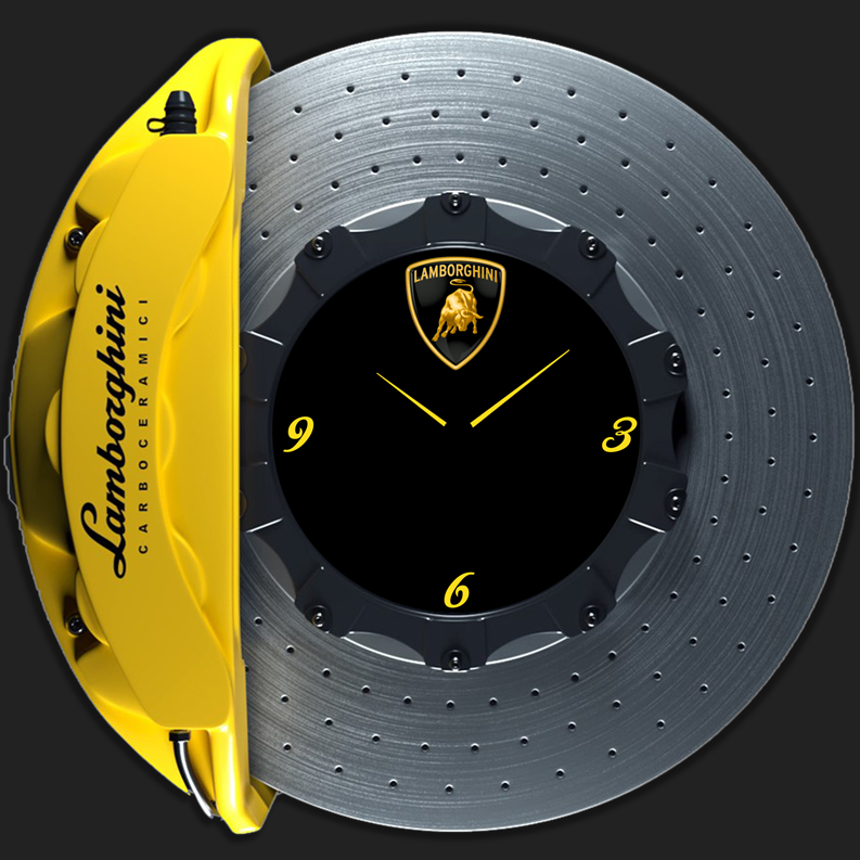 Lamborghini aventador brake disc clock